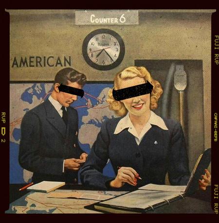 Vintage illustration of an airline worker