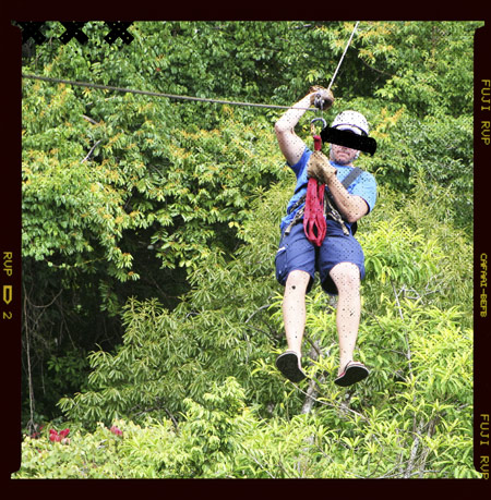 Photo of a bad hombre ziplining