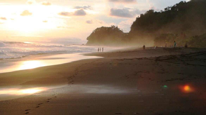 Photo of a beautiful beach at sunset
