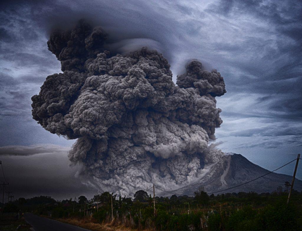 A crazy volcano photo